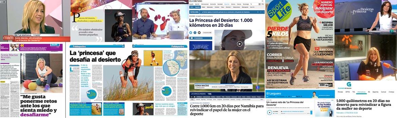 La Princesa del desierto en los medios